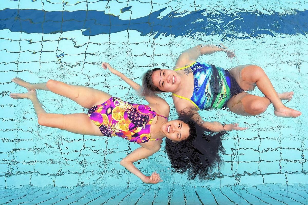 Swimmers Yip Pin Xiu and Theresa Goh at Katong Swimming Complex on Nov 24, 2016. The duo produced Singapore's best performance at the Paralympics. Yip won two gold medals and set two world records in Rio, while Goh won a bronze medal.