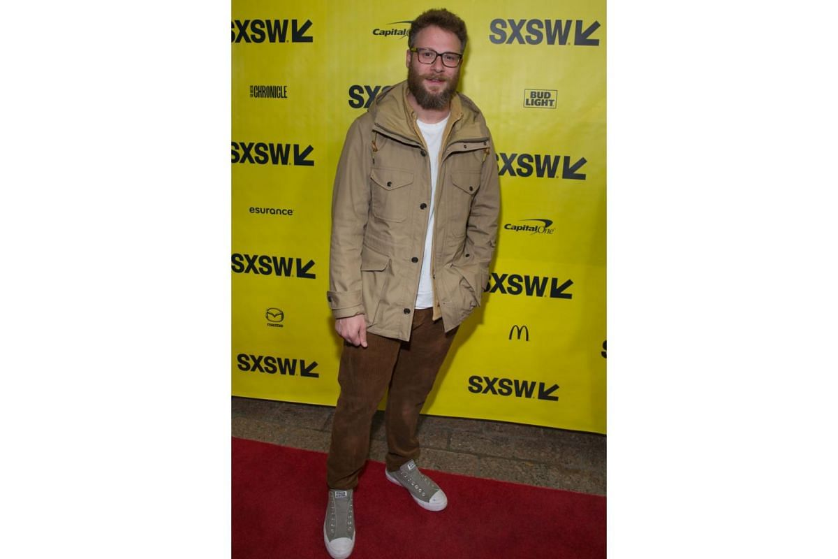 Actor Seth Rogan arrives for the premiere of the film The Disaster Artist during The South by Southwest (SXSW) Film Conference held at the Paramount Theater on March 12, 2017 in Austin, Texas.