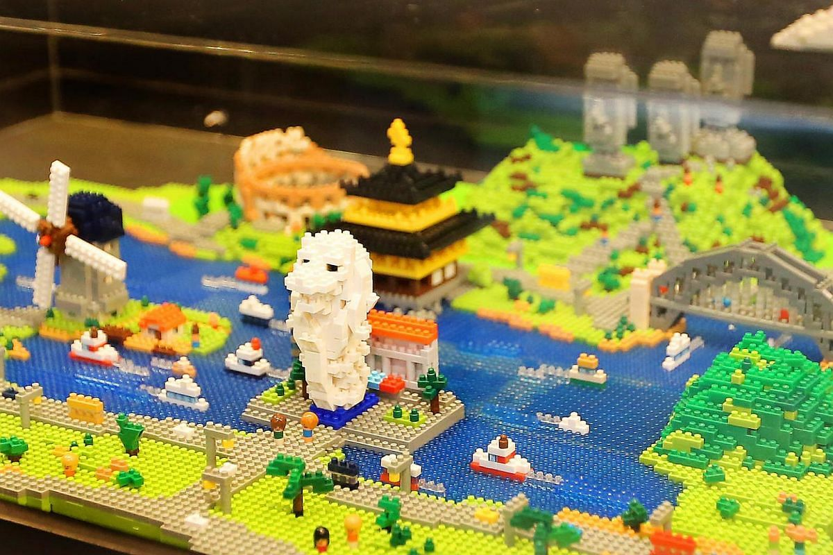 A nanoblock museum has popped up at Changi Airport's Terminal 3 on Level B2. There are 249 designs on display.