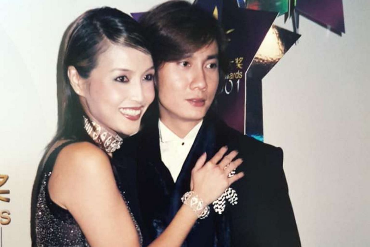 My life so far: The actress with Chen Hanwei at Star Awards 2001.