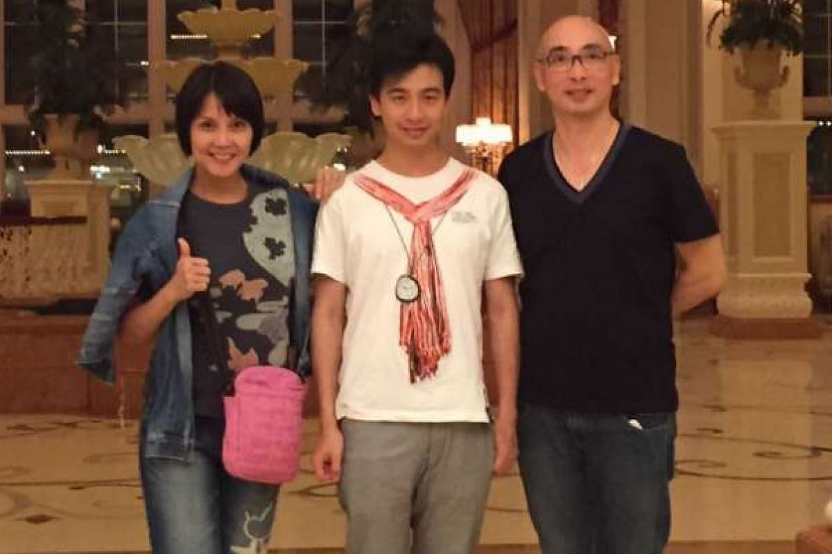 My life so far: Tan with her stepson Lee Shing Lam and husband Gerald Lee in Tokyo in 2014.