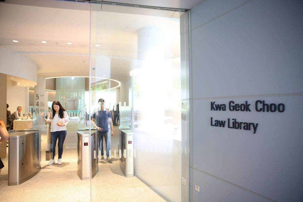 The entrance of Kwa Geok Choo Law Library.