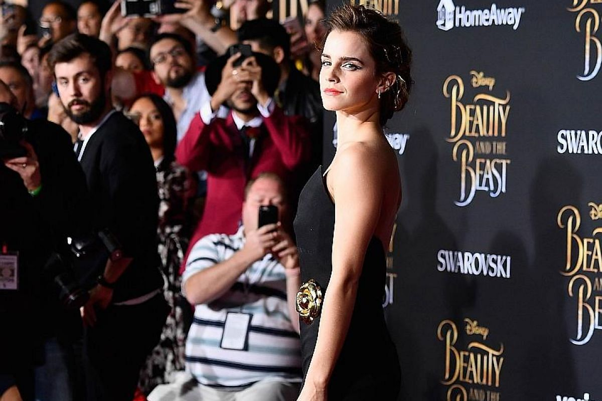 Emma Watson (above) stars with Dan Stevens in Beauty And The Beast. The English actress hopes her Belle is a positive female role model, just as the 1991 movie character was for her when she was young.