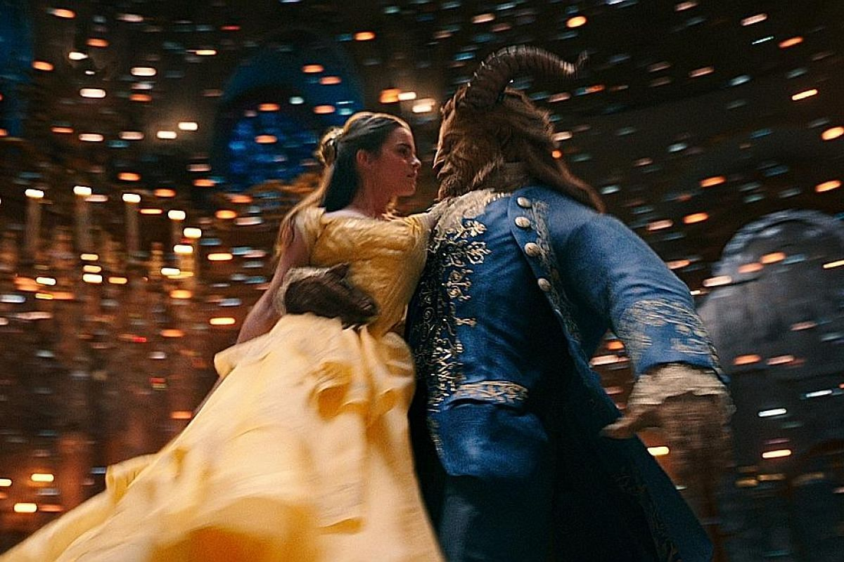Emma Watson stars with Dan Stevens in Beauty And The Beast (above). The English actress hopes her Belle is a positive female role model, just as the 1991 movie character was for her when she was young.