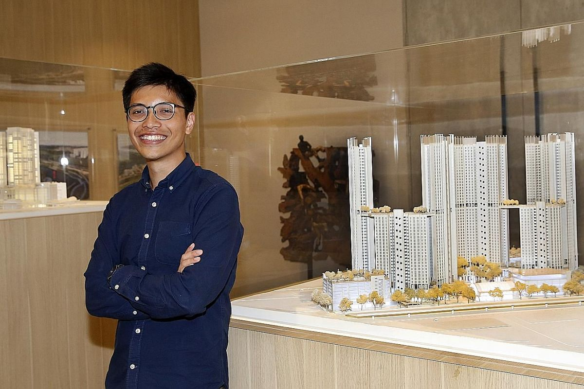 Mr Lim at the Surbana Jurong office in Jalan Bukit Merah. Just six months into his job at the infrastructure consultancy, he already leads a small team that has developed an application that could cut the building design process by up to half the tim