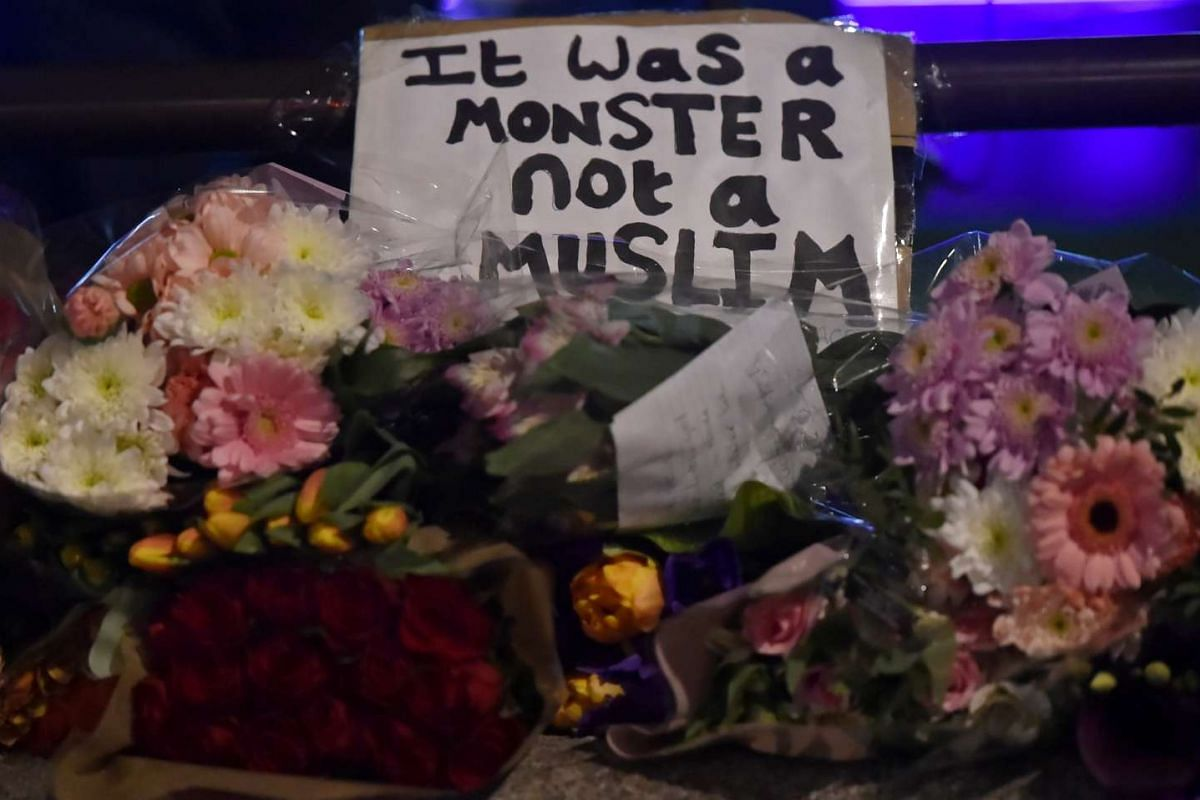 Floral tributes in Westminster the day after an attack in London, Britain, on March 23, 2017.