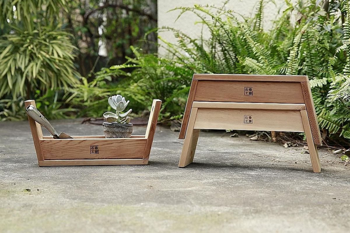 Its pieces include the Carry Stool (above) by Tomoko Azumi and AA Stool by Torafu Architects.