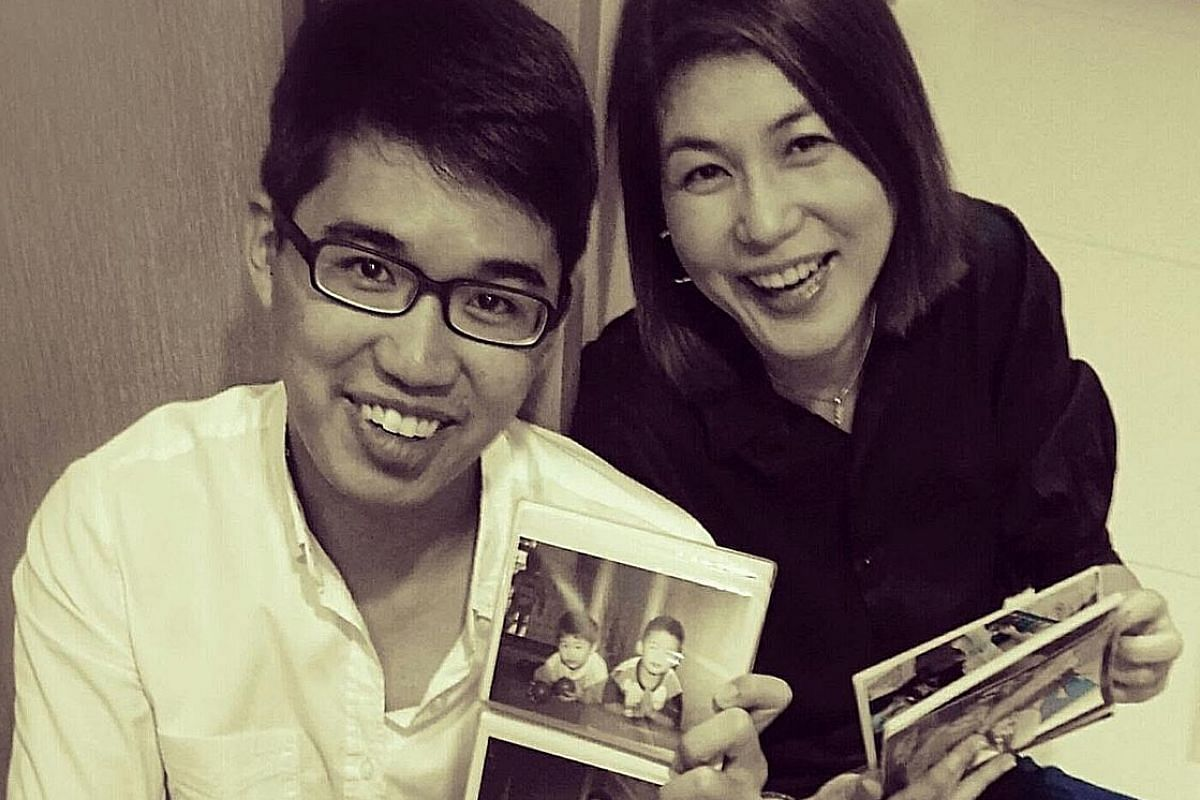 My life so far: Ms Kristie Lim and her eldest son, Moses Soh, who inspired her to open a tuition centre.