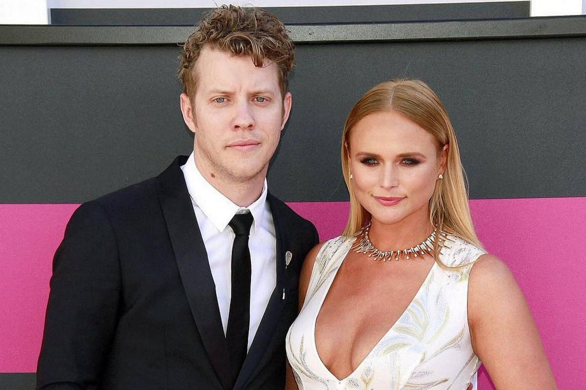 Singers Anderson East (left) and Miranda Lambert arrive for the 52nd Academy of Country Music Awards.