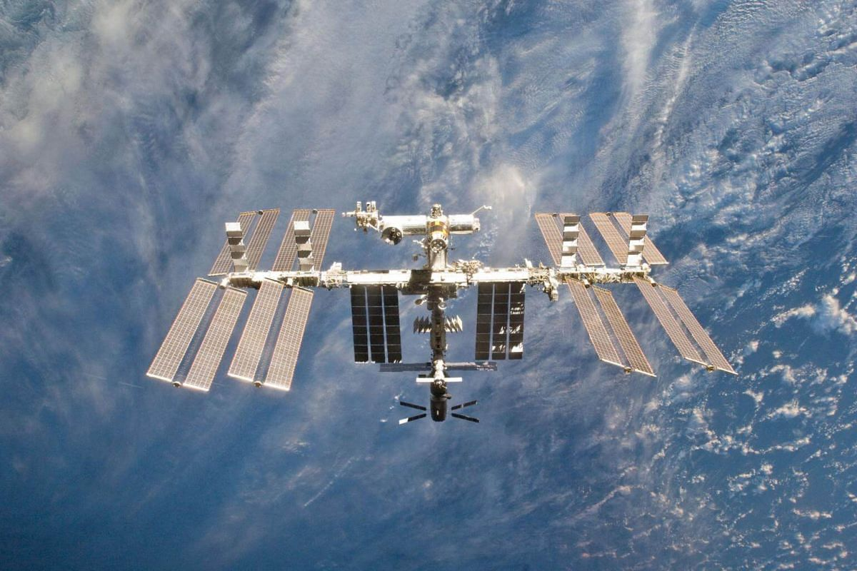 A file photo of the International Space Station is seen from the space shuttle Discovery on March 7, 2011. Russia said on Tuesday, April 4, 2017, that it was open to extending its partnership with in the station with the US, Europe, Japan and Canada.