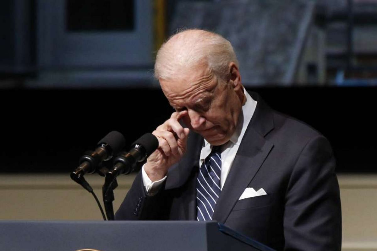 Former United States vice-president Joe Biden at a public memorial service for former astronaut and US Senator John Glenn in December last year.