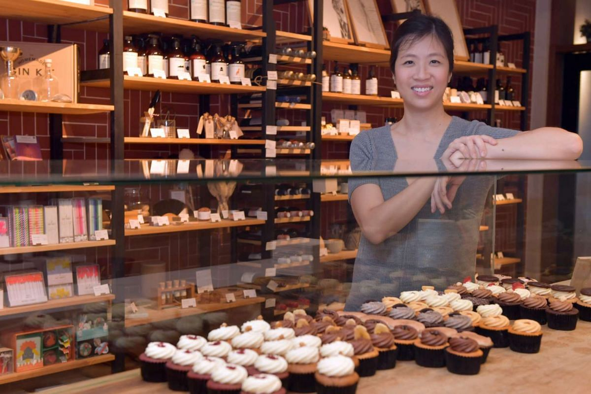 Ms Vanessa Kenchington in her bakery at Tiong Bahru.