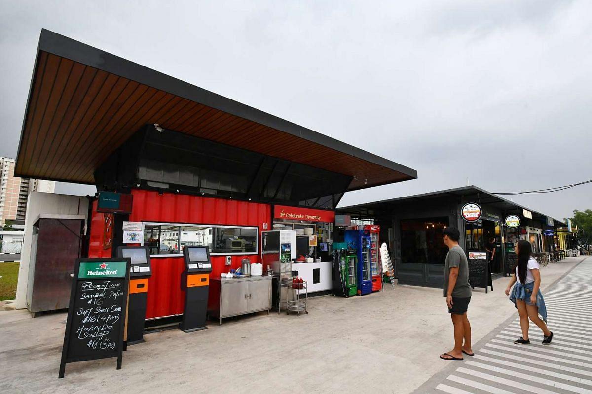 The Social Entrepreneurship and Eco-park Development in Punggol East houses seven container restaurants.