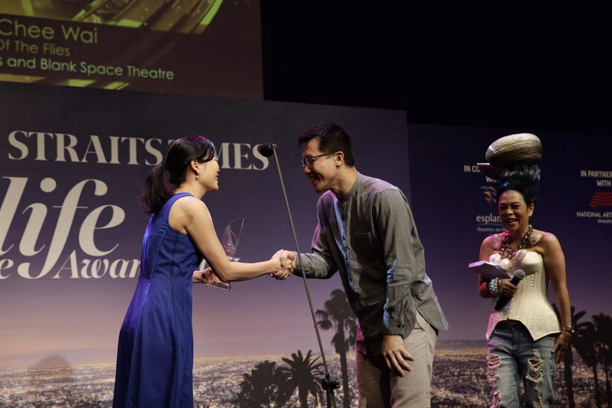 Wong Chee Wai wins Best Set Design for Lord Of The Flies by Sight Lines Productions and Blank Space Theatre.