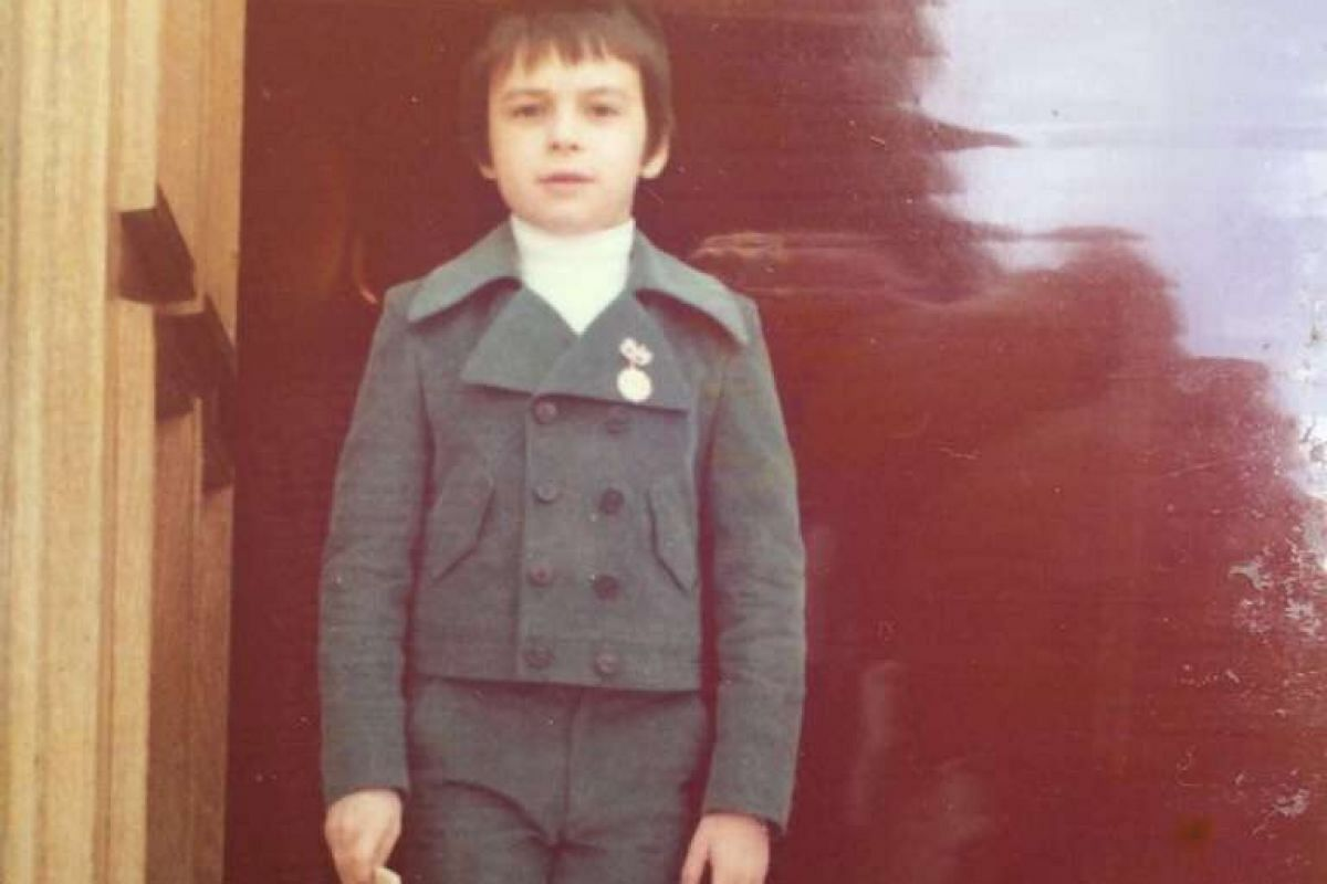 My life so far: Mr Asaro when he was about six or seven.