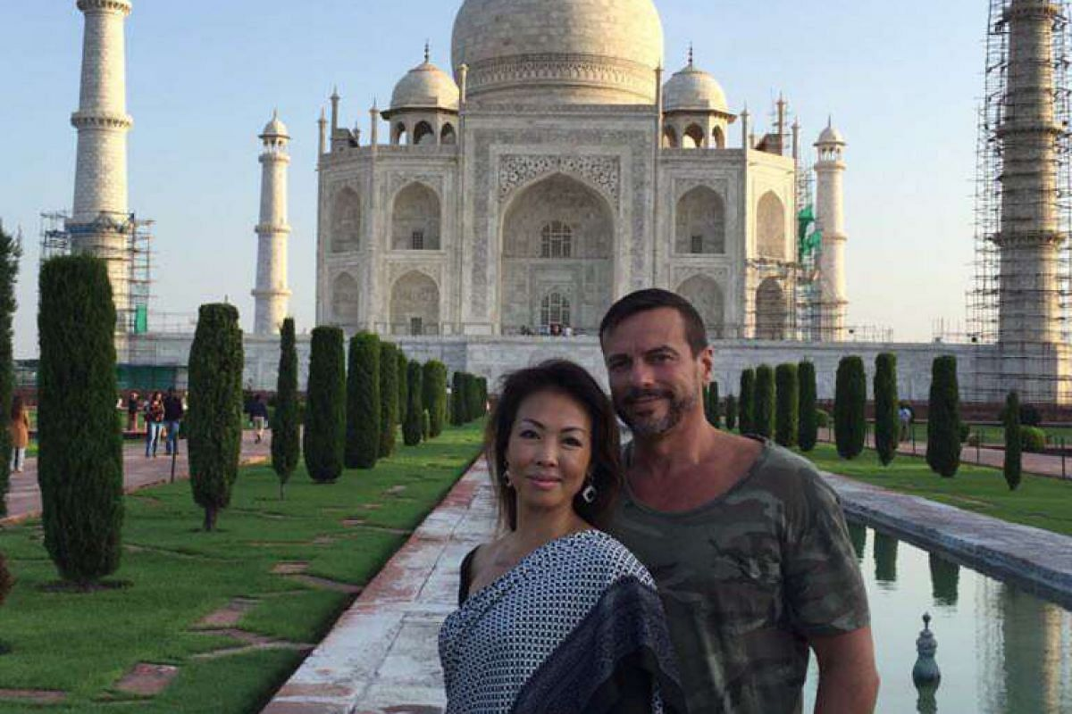 My life so far: Mr Federico Asaro and his wife Maple in India last September on her birthday.
