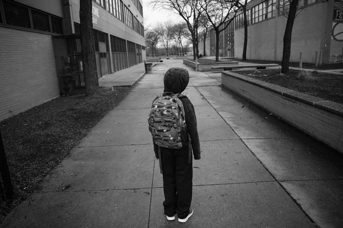 A handout photo of Tavon Tanner on his way to school, on Nov 28, 2016.