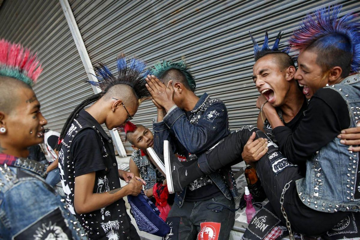 It is a day of friendship as well as members of the punk community meet and catch up with friends at Mahabandoola park.