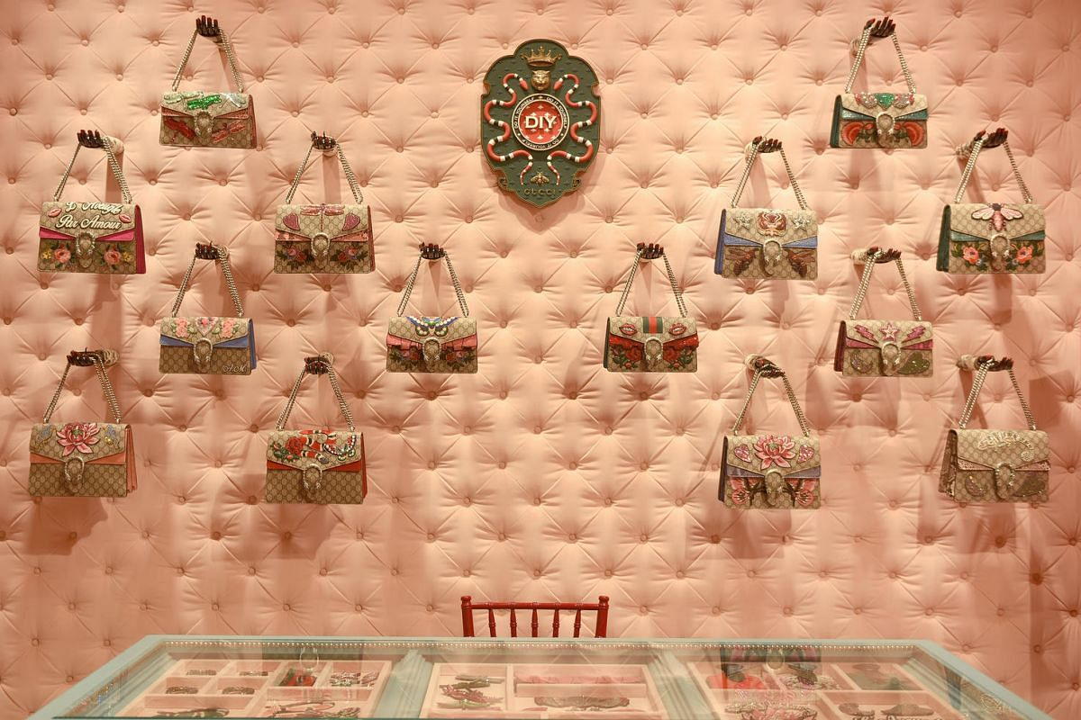 Gucci's Ion store which opened in January 2017 is the first in Singapore and Southeast Asia to offer their new Gucci DIY (Do It Yourself) concept for their iconic bags and ace sneakers.