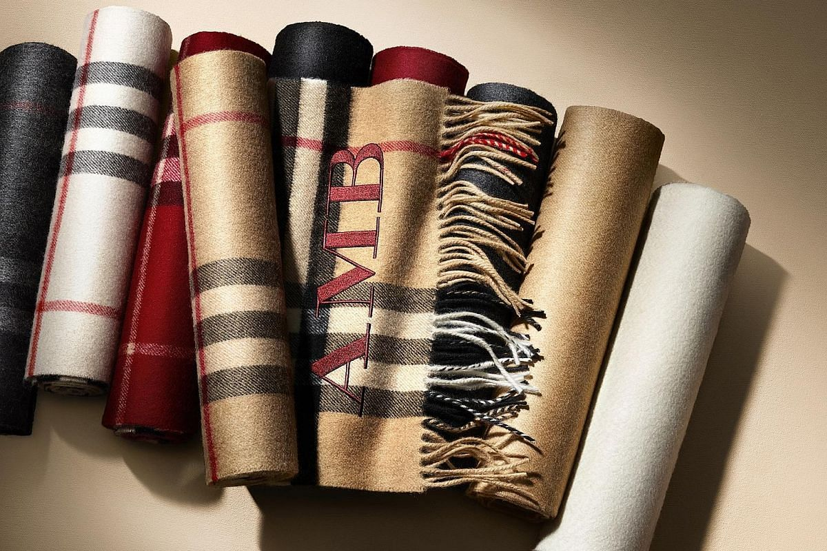 Create a bespoke item at these labels: Burberry cashmere scarves. Personalisation of up to three initials can be done in-store and the service is free.