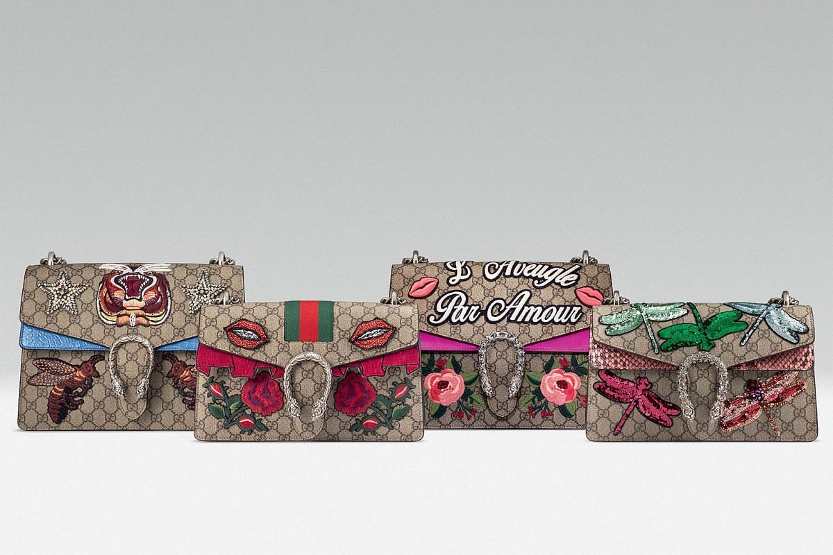 Create a bespoke item at these labels: Gucci Dionysus bags. Prices start at $6,080 for a customised version at the brand's Ion Orchard store.