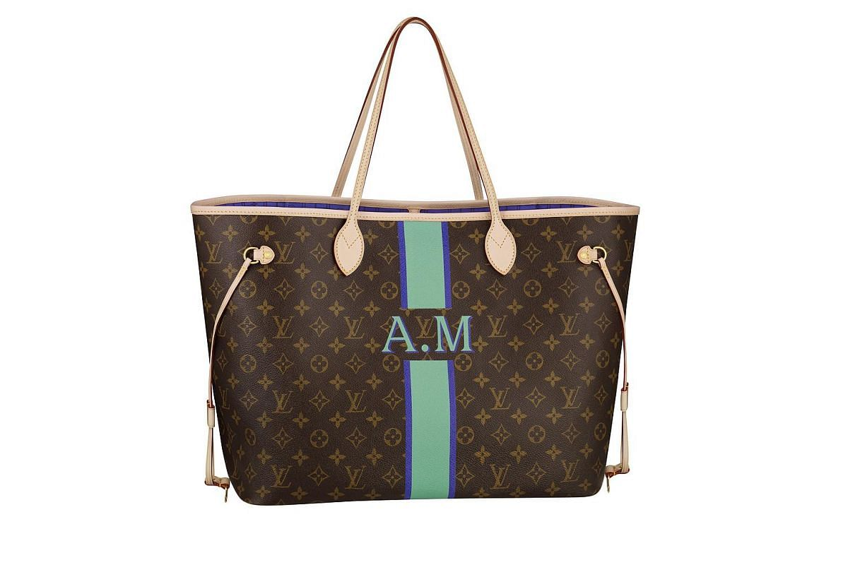 Create a bespoke item at these labels: Louis Vuitton classic Neverfull MM with Mon Monogram customisation. Prices range between $1,690 and $2,340, depending on the style and extent of customisation.
