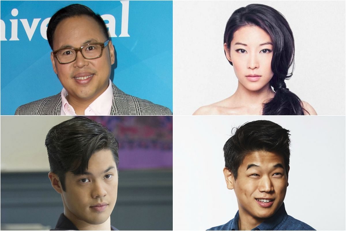 (Clockwise, from top left) Nico Santos, born in the Philippines; Korean-Americans Arden Cho and Lee Ki Hong; Ross Butler, who is ethnically Chinese.