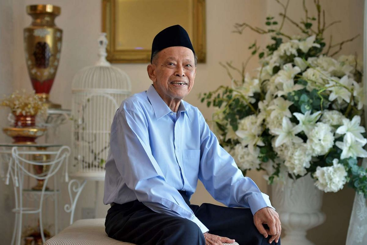 Mr Othman Wok at his home on April 4, 2015.