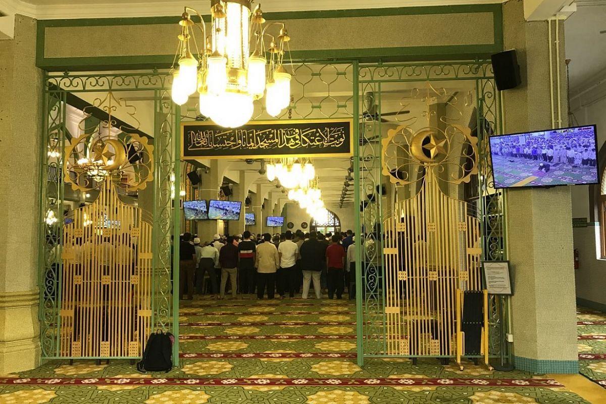 Entrance to the prayer hall.