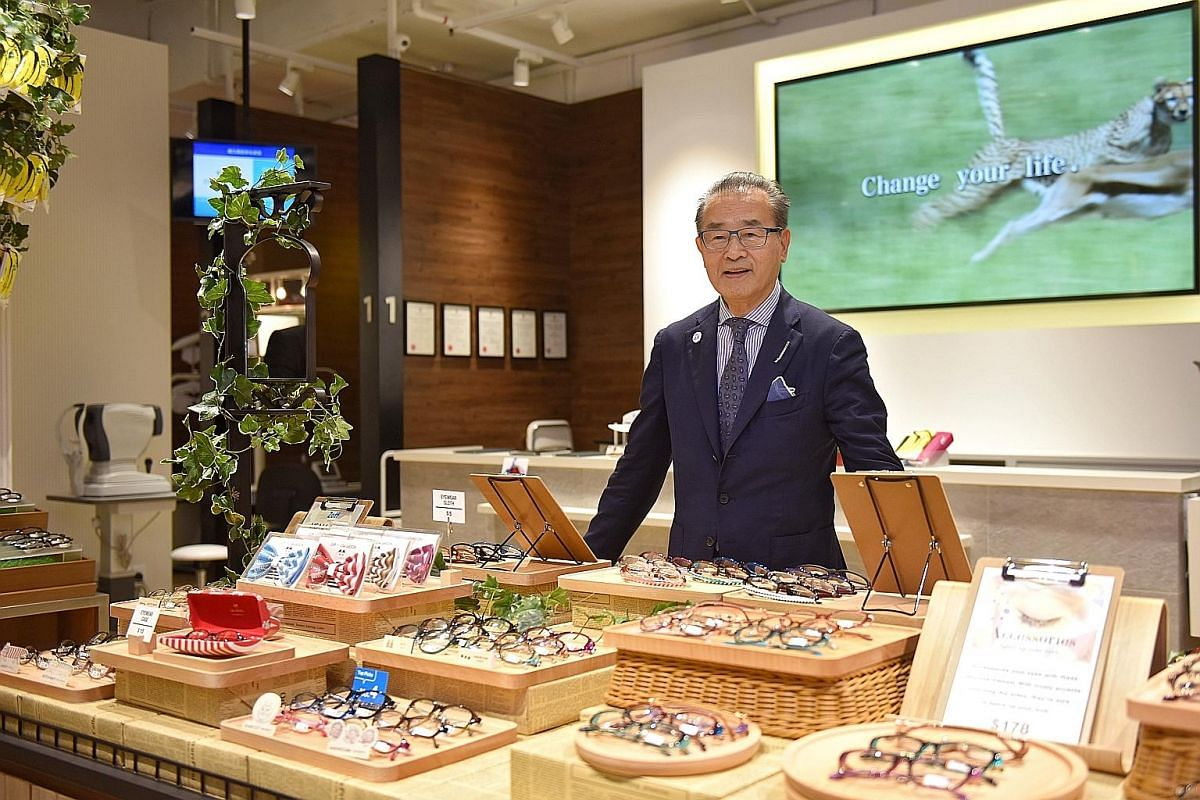 Japanese eyewear chain Zoff, headed by president Teruhiro Ueno, opened its first South-east Asia store here this month.