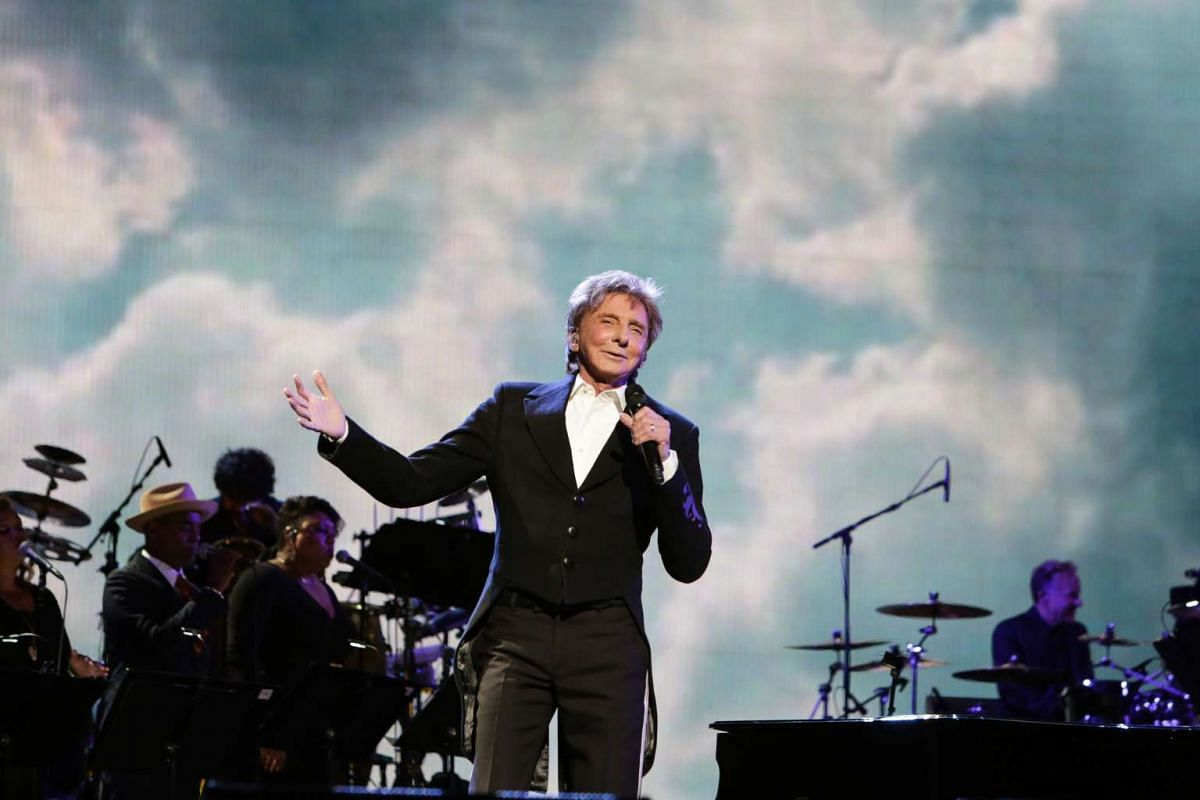 Singer Barry Manilow performs at the opening night of the Tribeca Film Festival world premiere of Clive Davis: The Soundtrack Of Our Lives at Radio City Music Hall in New York, on April 19.
