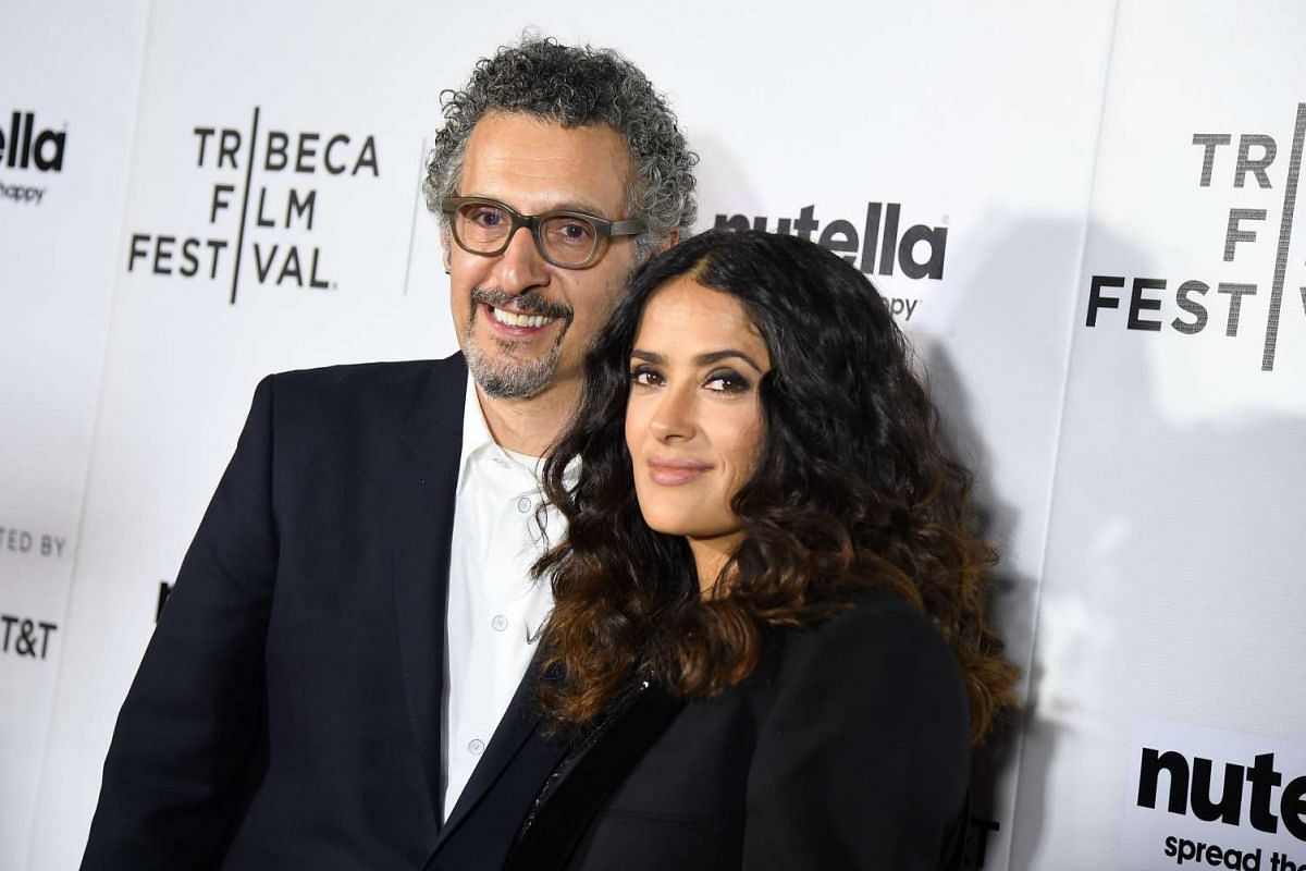 Actors John Turturro and Salma Hayek attend the premiere of 11th Hour at SVA Theater on April 21.