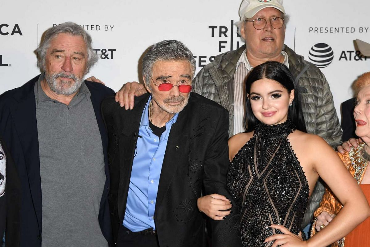 Actors (from left to right) Robert DeNiro, Burt Reynolds, Chevy Chase and Ariel Winter attend the Dog Years premiere at Cinepolis Chelsea on April 22.