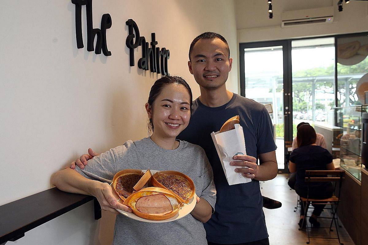 Ms Carol Aliya Widjaya (left), owner of Ratu Lemper, plans to sell vegetarian and seafood lemper, an Indonesian kueh, later this year, while Ms Sharon Low, chef-owner of Peranakan Khek, makes kueh with premium ingredients such as gula melaka from Mal