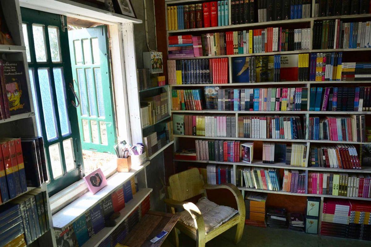 The interior of the Philadelphia bookstore.