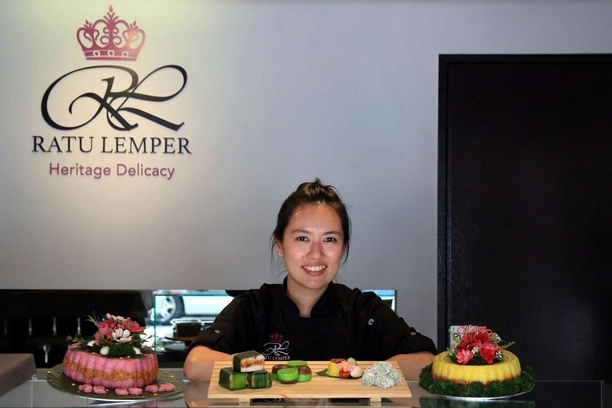 Ms Carol Aliya Widjaya, owner of Ratu Lemper, plans to sell vegetarian and seafood lemper, an Indonesian kueh, later this year