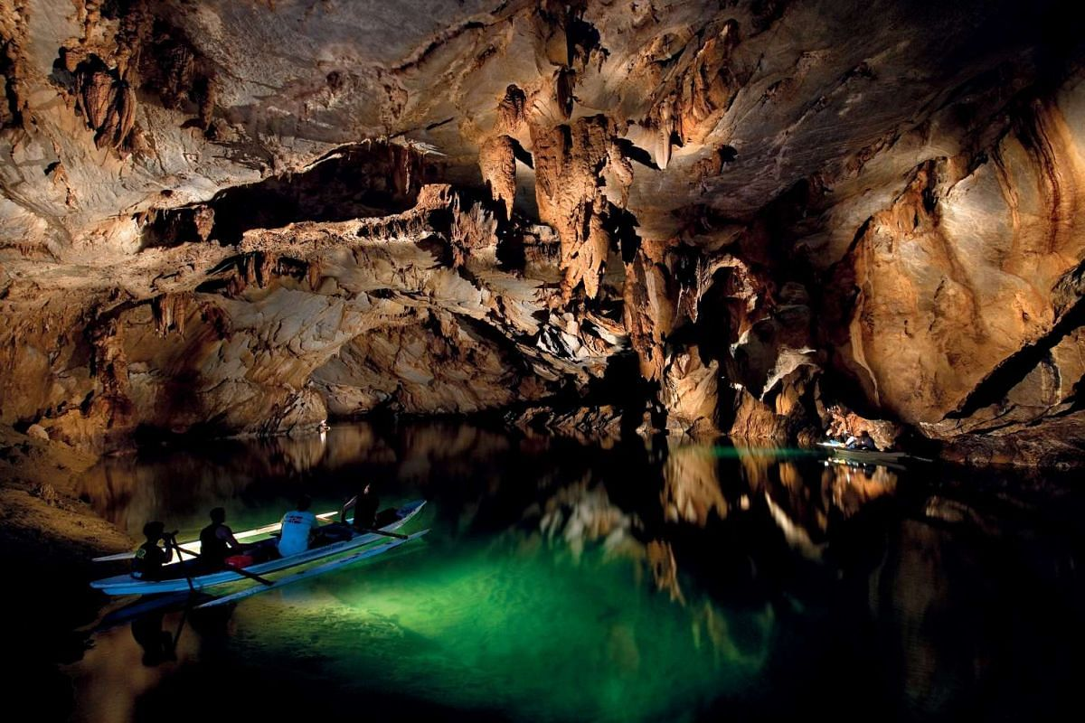 Explore fascinating limestone caves along the Puerto Princesa Underground River spanning 8.2km.