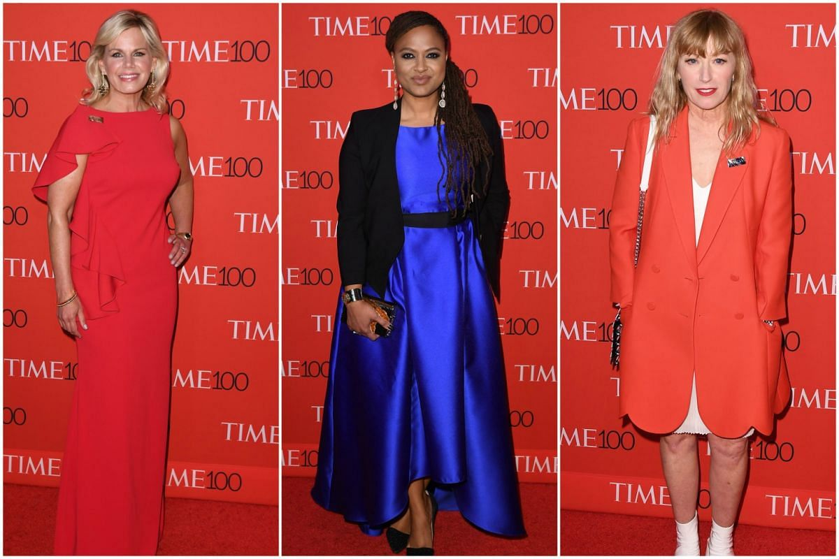 (From left) Gretchen Carlson, Ava DuVernay and Cindy Sherman attending the 2017 Time 100 Gala at Jazz at Lincoln Center, on April 25, 2017, in New York City.