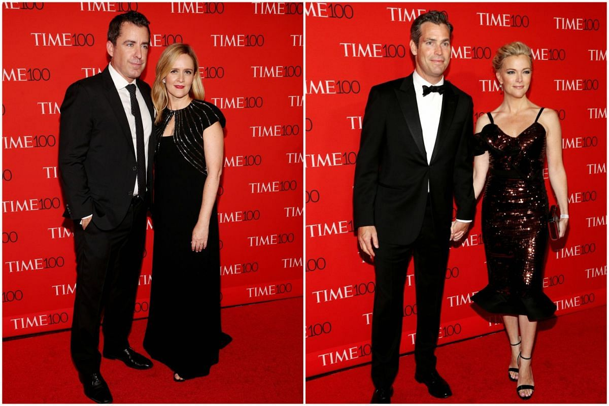 (From left) Jason Jones, Samantha Bee, Douglas Brunt and Megyn Kelly attending the 2017 Time 100 Gala at Frederick P. Rose Hall on April 25, 2017, in New York City.