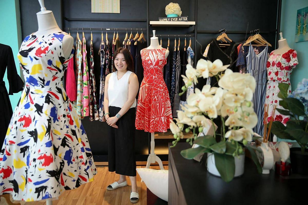Ms Joanne Ng of home-grown womenswear label Outpost designs dresses that flatter and fit her customers' body shapes.