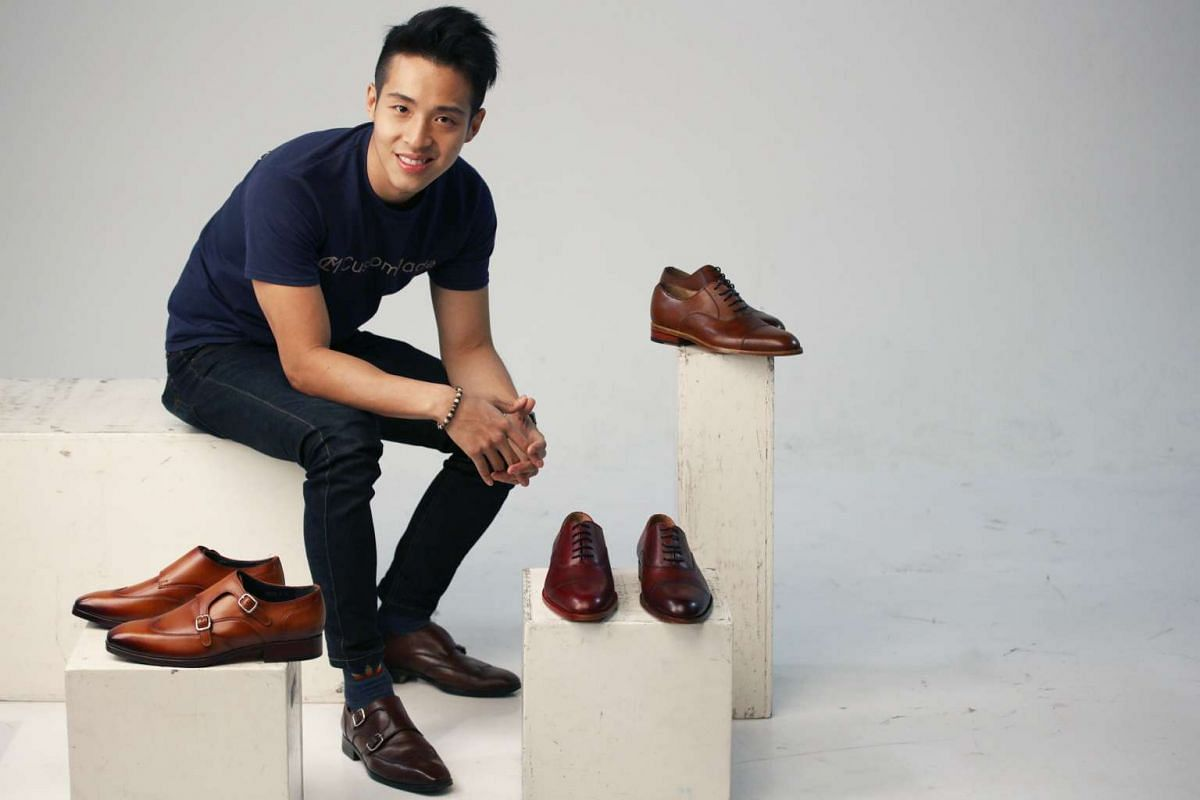 The CustomMade shoe label, founded by Mr Donovan Leow (above), has 25 designs that can be ordered as is or customised to one's taste.