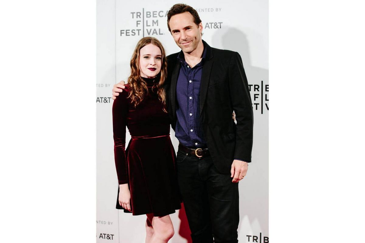 Best Actor and Actress winners Nadia Alexander (left) and Alessandro Nivola (right) attend the 2017 Tribeca Film Festival Awards Ceremony in New York.