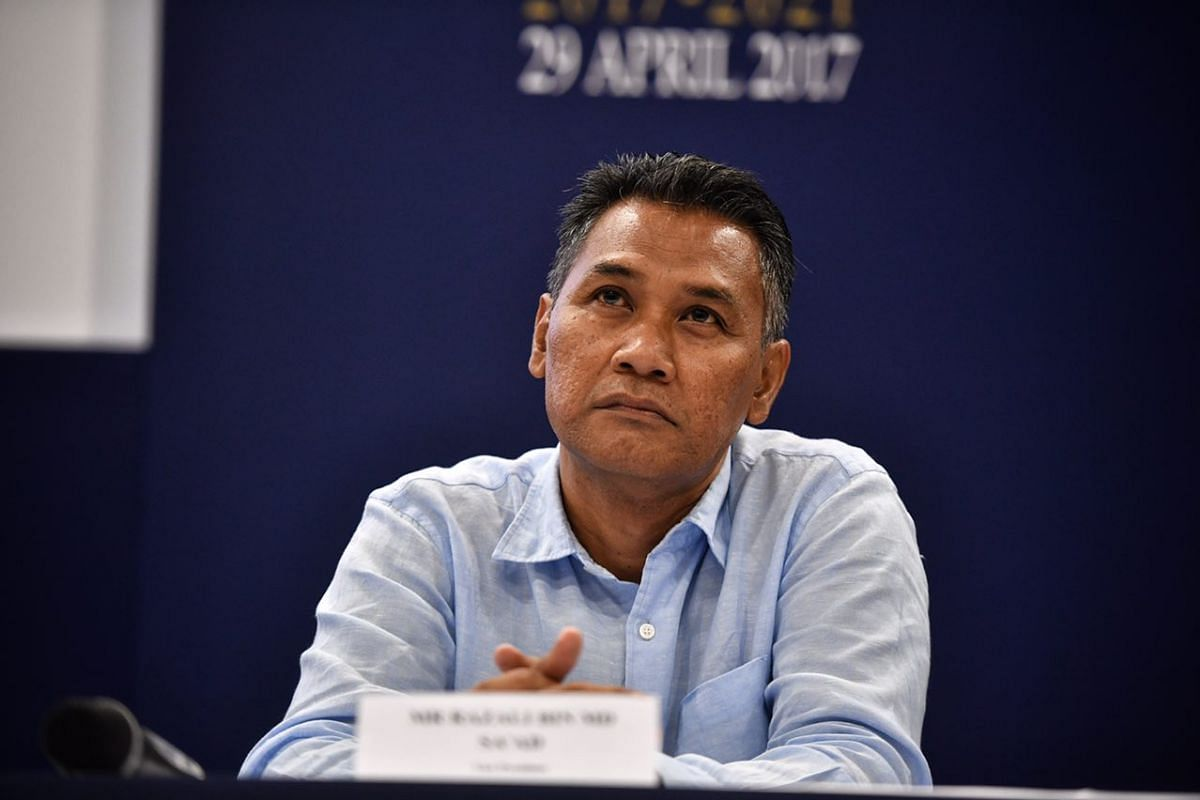 Razali Saad at the FAS press conference after the elections.