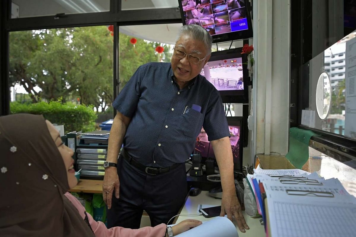Mr Henry Lim (above), 81, loves interacting with colleagues and residents in his job as a facilities assistant at a condominium.