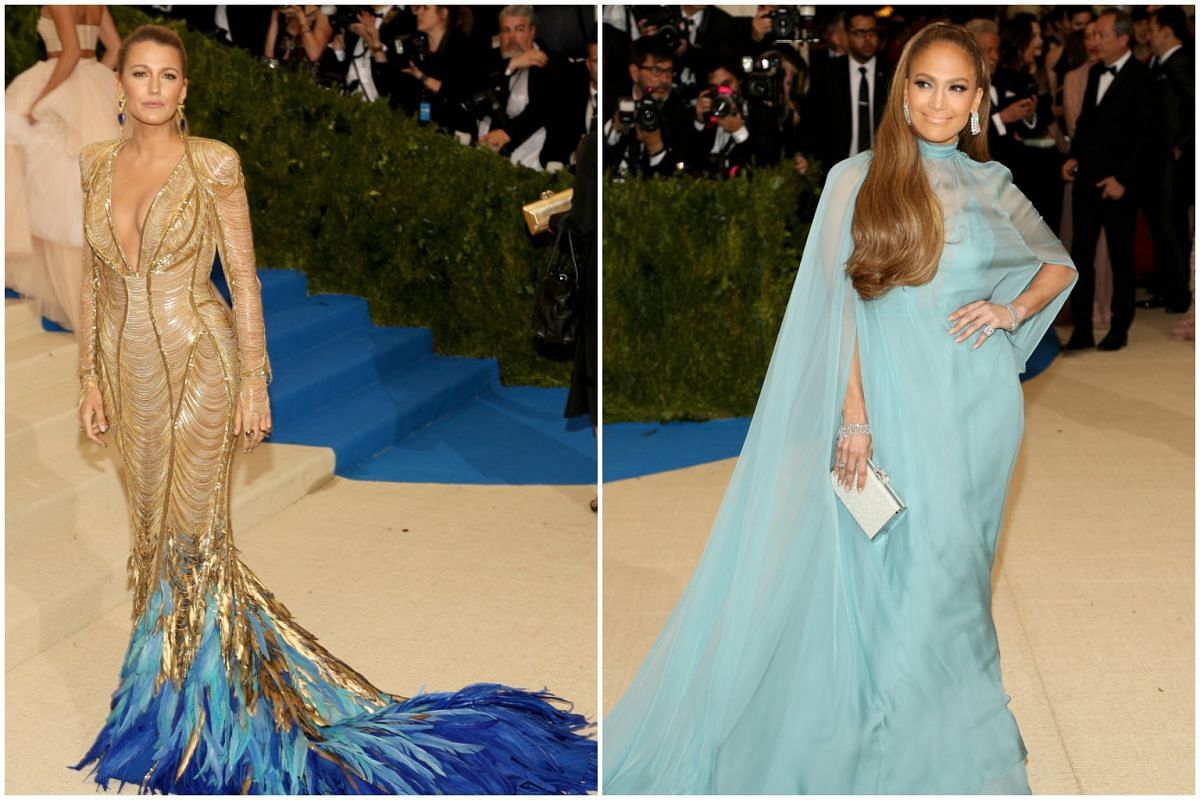 Actress Blake Lively (left) and pop star Jennifer Lopez  add dazzle to the event.
