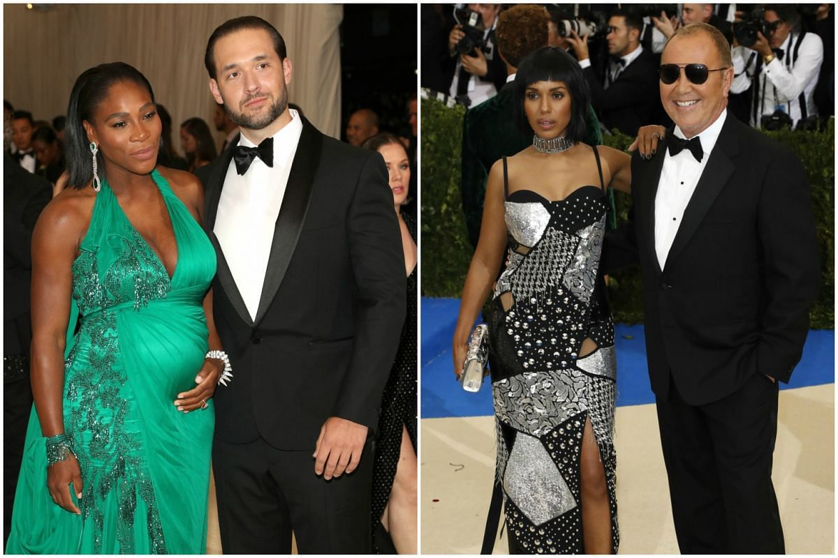 Couple power: (left) Tennis ace Serena Williams and Alexis Ohanian. Actress Kerry Washington with fashion designer Michael Kors