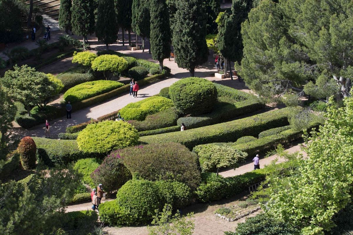 An overhead view of the gardens. PHOTO: AFP