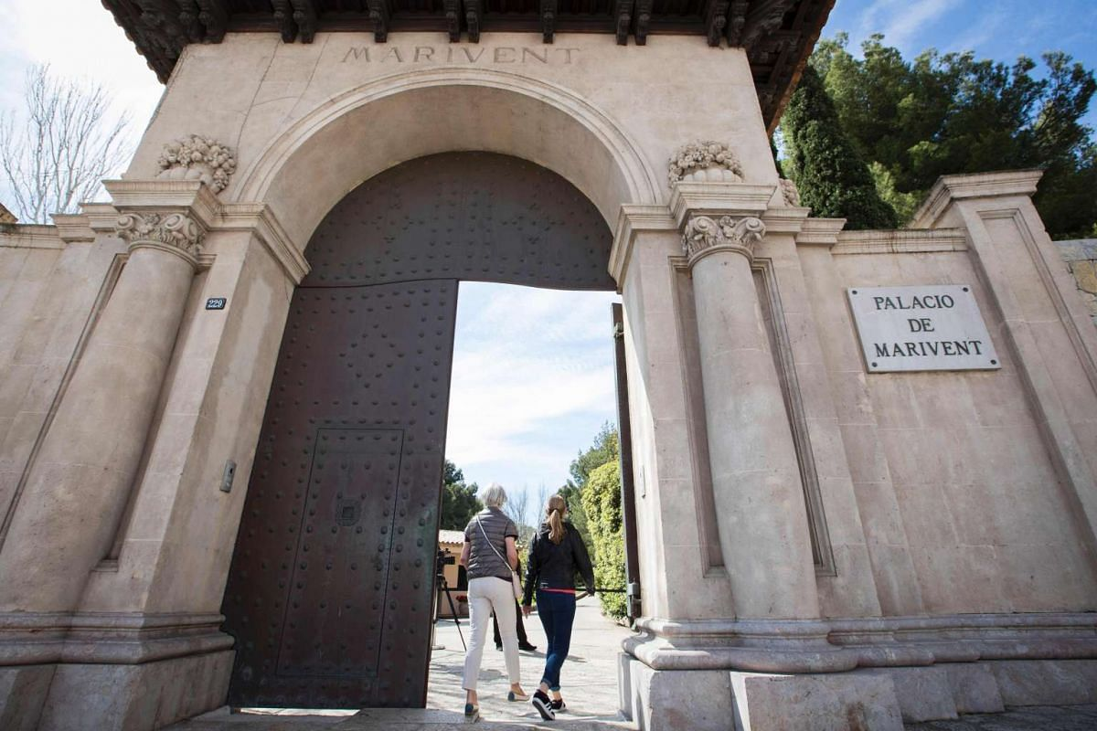 The entrance to Marivent Palace, the Spanish royal family's summer residence. PHOTO: AFP