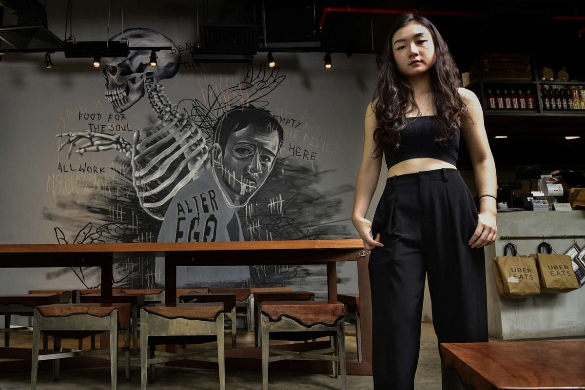 Artist and tattoo apprentice Gigi Chong took seven days to complete the 15 sq m mural at Alter Ego.