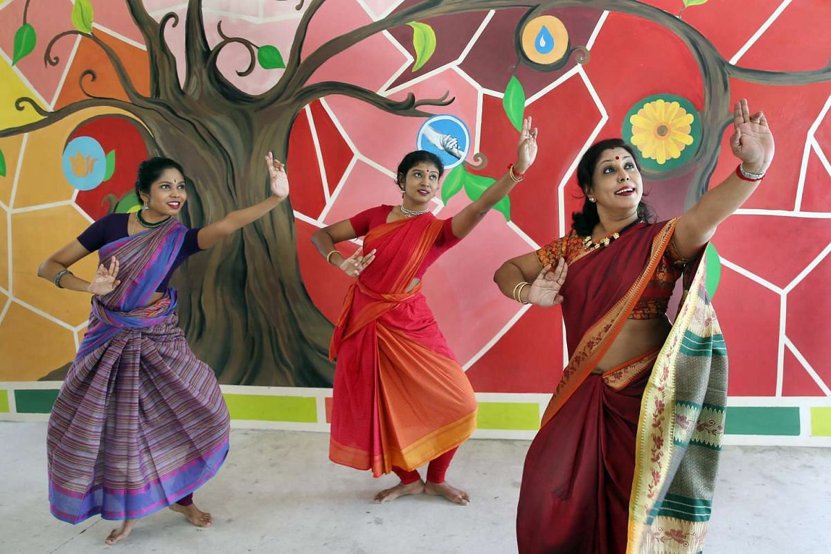 From left: Lekshna Balasubramaniam and sister Brinda have been going for bharatanatyam classes taught by their mother, Jeyanthi, since they were four years old.